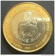 Togo  -  6000 CFA ...2003 ..Guin Woman (femme Au Seins Nus)....bimetallic / Bimetal - Togo