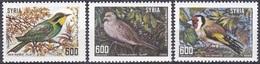 Syrien Syria 1989 Tiere Fauna Animals Vögel Birds Stieglitz Bienenfresser Turteltauben Tauben Doves, Mi. 1745-7 ** - Syrien