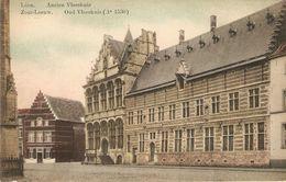 Zoutleeuw : Oud Vleeshuis ( Oude Kleurkaart)  1909 - Zoutleeuw