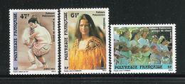 POLINESIA FRANCESE - 1989 - 3 Valori Nuovi S.t.l. - Emissione Dedicata Al FOLKLORE POLINESIANO- In Ottime Condizioni. - Polinesia Francese