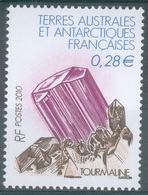 French Antarctic (FSAT), Minéral, Tourmaline, 2010, MNH VF - French Southern And Antarctic Territories (TAAF)
