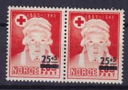 Norway 1948 Mi. 338 Red Cross Rotes Kreuz Croix Rouge Pair Paare MNH** - Ungebraucht