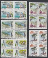 Russia 1998 Block Regions Russian Federation Geography Places Water Mountain Architecture Momument Stamps MNH Mi 682-686 - Geography