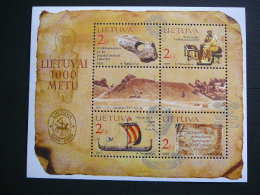 1000th Anniversary Of Lithuania # Lietuva Litauen Lituanie Litouwen 2002 MNH # Mi. 796/9 Block 25 - Lithuania