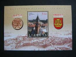 750th Anniversary Of Klaipeda. Memel # Lietuva Litauen Lituanie Litouwen Lithuania 2002 MNH # Mi. 800 Block 26 - Lithuania