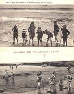 2 CPA 266 & 267 - Au Bord De L'océan - Au Bord De La Plage, Attendant La Vague - Pêcheurs - Editeur F. Chapeau - Nantes - Cartes Postales
