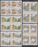 Russia 1999 Block Regions Russian Federation Nature Geography Places Architecture Building Stamps MNH Mi 729-733 - Geography
