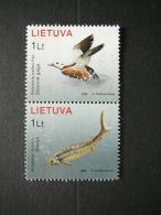 Fishes Ducks # Lietuva Litauen Lituanie Litouwen Lithuania 2006 MNH # Mi. 915/6 - Lithuania