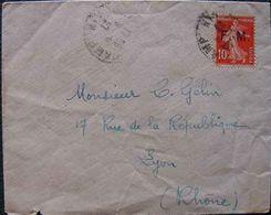 F106, France - Lettre En FM De 1927 - Franchise Militaire (timbres)