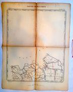 OUDE STAFKAART 5/8 Situatie 1862 SINT-MARGRIETE Sint-Laureins WATERVLIET WATERLAND-OUDEMAN Heemkunde Geschiedenis S339 - Sint-Laureins