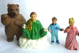 4 FIGURINES - BONNE NUIT LES PETITS - PAPO 1995 PIMPRENELLE NICOLAS NOUNOURS ET LE MARCHAND DE SABLE - Figurines
