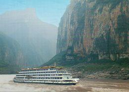 China - Yangtzekiang Fluss Mit Schiff SPLENDID CHINA (Hapag Lloyd Issue) - Dampfer