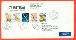 Brasil 2001.Envelope Passed The Mail. Musical Instruments. - Brazil