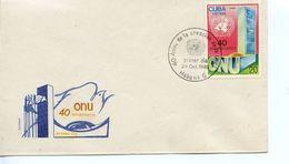 CUBA -  1985 40TH ANNIVERSARY UNITED NATIONS  FDC3485 - FDC