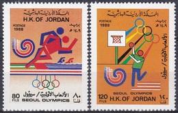 Jordanien Jordan 1988 Sport Spiele Olympia Olympics Seoul Piktogramme Pictograms Basketball, Aus Mi. 1406-0 ** - Jordanien