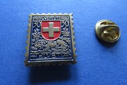 Pin's, PTT, Timbre Pro Juventute 1926, Lion, Löwe, La Poste Suisse - Other
