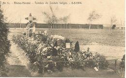 Rhées-Herstal. - Tombes De Soldats Belges - 6-8-1914.  (scan Verso) - Herstal