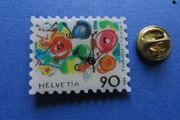 Pin's, PTT, Timbre TINGUELY, Meta, 1988 La Poste Suisse - Other