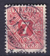 Denmark Verrechnungsmarke 1907 Mi. 3X   7 Øre AVISPORTO MÆRKE - Port Dû (Taxe)