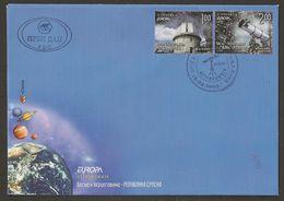 "BOSNIA HERZ. SERBIA /SRPSKA REP. - EUROPA 2009 - TEMA ""ASTRONOMIA"" - FDC De La SERIE De 2 V. - 2009"