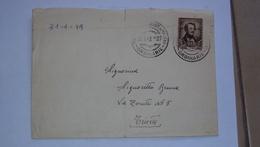 ITALIA TRIESTE AMG-FTT AMG FTT LETTERA CON ISOLATO 15 LIRE DONIZETTI - Storia Postale