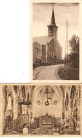 Schepdaal / Schepdael : Kerkzicht Binnen -en Buiten  --- 2 Kaarten - Dilbeek