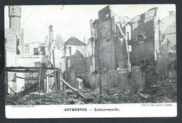 +++ CPA - ANTWERPEN  ANVERS  - Ruines - Schoenmarkt - Guerre  // - Antwerpen