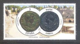España 2017 - 1 Hojita Bloque Nueva**MNH-Numismática-Áureo De Adriano Y Denario De Trajano-Espagne Spain Spanien Spagna - 1931-Hoy: 2ª República - ... Juan Carlos I