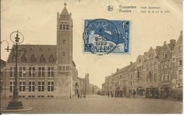 Rousselare Roulers Coin De La Rue Du Sud Hoek Zuidstraat +  Cachet Edgar Hennaert Timbre Caritas 1.25 + 0.25 - Belgique