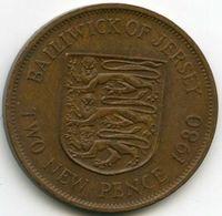 Jersey 2 New Pence 1980 KM 31 - Jersey