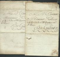 An 1786 - 2 Lacs De La Châtre Adréssée à Mr Pollier Greffier De La Délégation De Saumur à Gueret - Af226 - Documenti Storici