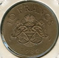 Monaco 10 Francs 1981 GAD 157 KM 154 - 1960-2001 New Francs