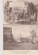 Cpa Bruxelles . Deux Vues: Bruxelles Jadis Et Aujourd'hui. La Porte De Schaerbeek. Tram (carte Publicitaire) - Transport Urbain En Surface