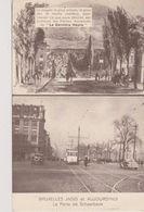 Cpa Bruxelles . Deux Vues: Bruxelles Jadis Et Aujourd'hui. La Porte De Schaerbeek. Tram (carte Publicitaire) - Vervoer (openbaar)