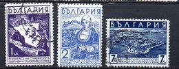 BULGARIA.  AÑO 1936.  Yv  287/289 (MH/USED) - Nuevos