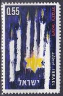 Israel 1962 Geschichte History Märtyrer-Tag Martyrs Kerzen Candles Davidstern, Mi. 257 ** - Israel