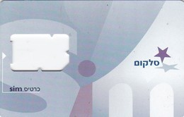 Israel, GSM SIM Card Without Chip, 2 Scans - Israel