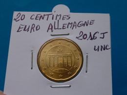 20  CENTIMES  EURO  ALLEMAGNE  2016 J Unc  ( 2 Photos ) - Allemagne