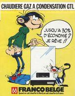 BD. Gaston Lagaffe - Publicité Chaudières FrancoBelge - Michel Vincent Installateur à Sarry (51) - VR_C2_2 - Objets Publicitaires