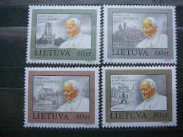 Lietuva Litauen Lituanie Litouwen Lithuania 1993 MNH # Mi. 533/6 Pope J.Paul II. Visit To Lithuania - Lithuania