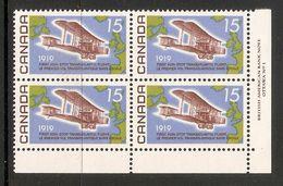 006291 Canada 1969 Flight 15c Plate Block 1 LR MNH - Numeri Di Tavola E Bordi Di Foglio