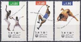 Israel 1996 Sport Spiele Olympia Olympics Atlanta Fechten Stabhochsprung Ringen Leichtathlethik, Mi. 1397-9 ** - Israel