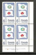 006294 Canada 1969 Games 6c Plate Block 1 LR MNH - Numeri Di Tavola E Bordi Di Foglio