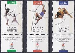 Israel 1996 Sport Spiele Olympia Olympics Atlanta Fechten Stabhochsprung Ringen Leichtathlethik, Mi. 1397-9 ** - Ungebraucht (mit Tabs)