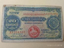 20 Centavos 1914 - Mozambico