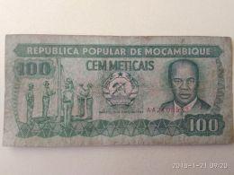 100 Meticais 1989 - Mozambico