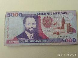 5000 Meticais 1991 - Mozambique