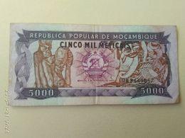 5000 Meticais 1989 - Mozambique