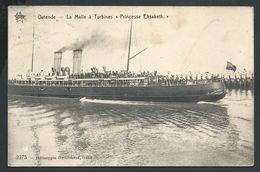 "+++ CPA - OOSTENDE - OSTENDE - Bateau - La Malle à Turbines ""Princesse Elisabeth""  // - Oostende"