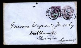 A5096) UK Ganzsachenbrief Mit Zusfr. Von London 02/07/99 - 1840-1901 (Viktoria)
